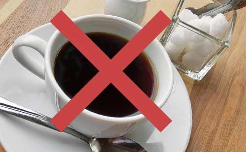 コーヒーは×