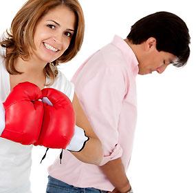 臆病な男子と強気な女子