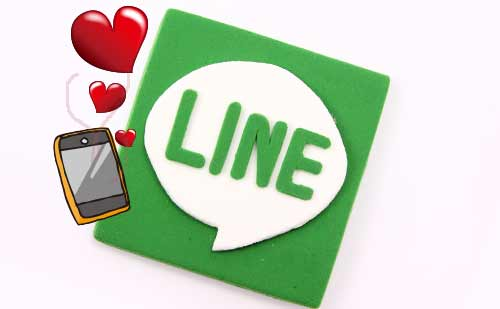 lineのマークとスマートフォン