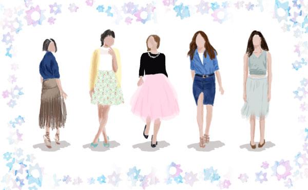 春はスカートから流行を取り入れる!おしゃれ女子におすすめ5選