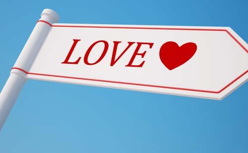 loveマークの標識