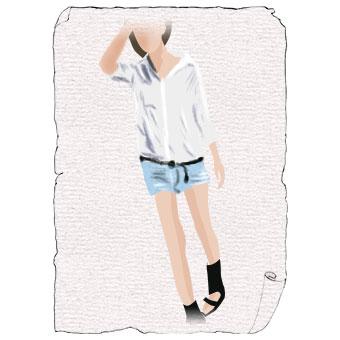 ボーイフレンドシャツ×ショートパンツコーデの鉄則