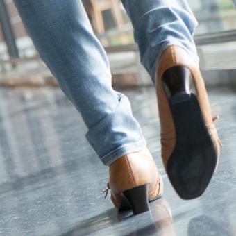 ヒールの低い靴