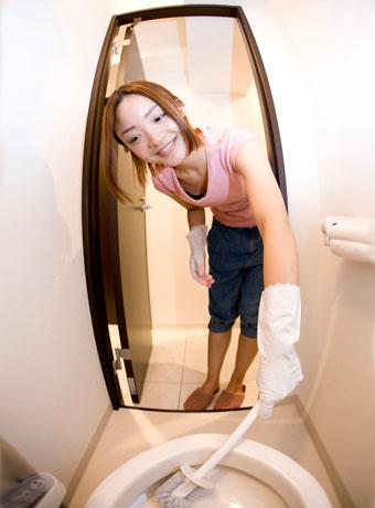 トイレ掃除をして食欲減退
