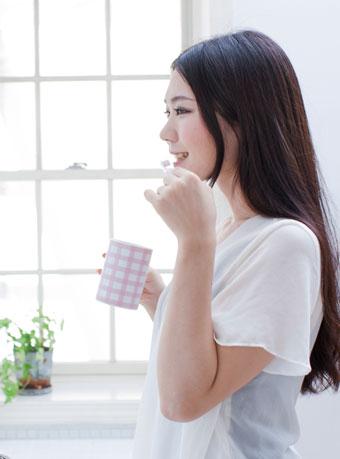 歯磨きをして食欲を抑える