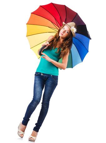 日傘で紫外線をシャットアウト