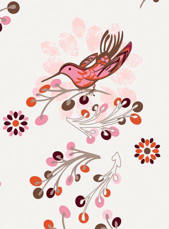 カーテンの柄は花や鳥をえらぼう