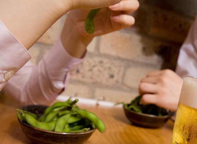 ダイエット中のお酒のおつまみ枝豆