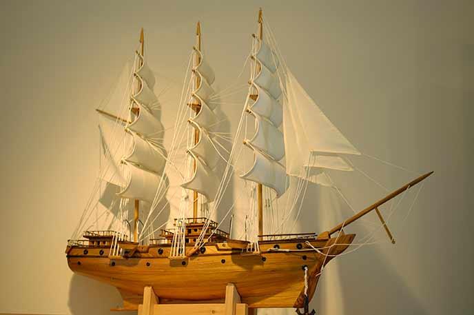 素敵な船の模型