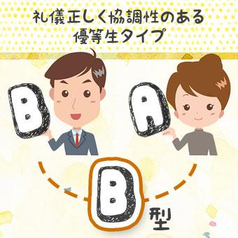 B型とA型の両親を持つB型さん