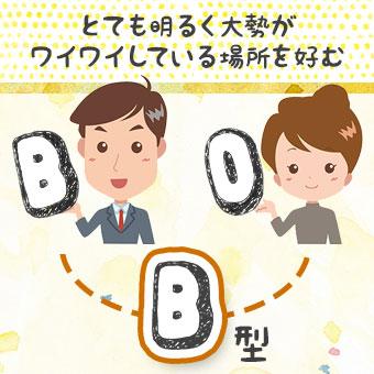 B型とO型の両親を持つB型さん