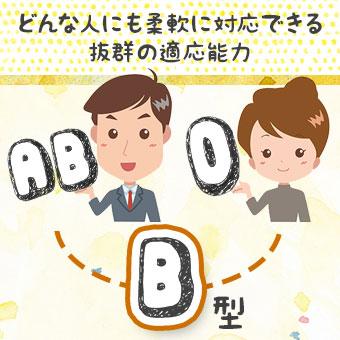 AB型とO型の両親を持つB型さん