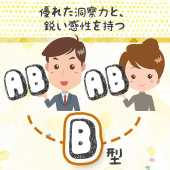 どちらもAB型の両親を持つB型さん