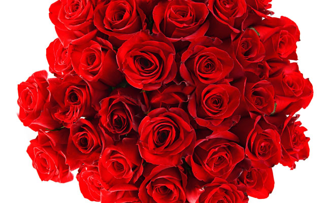 記念日にバラ100本のプレゼント