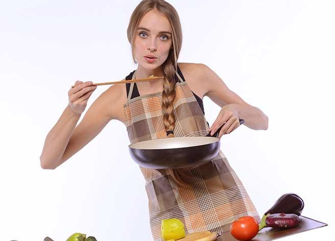 料理が趣味のモテる女性
