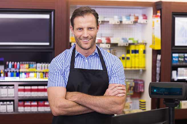 男前なスーパーの店員
