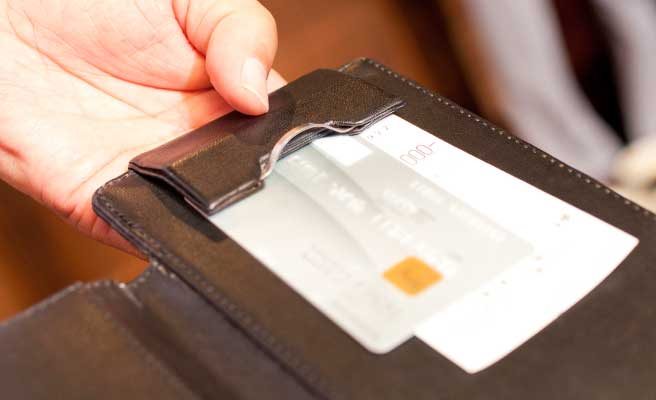 クレジットカードと伝票