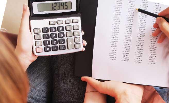費用を計算する電卓