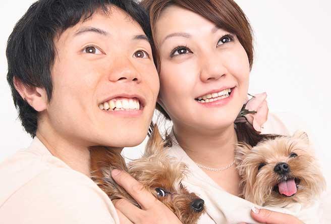 犬好きのお似合いカップル