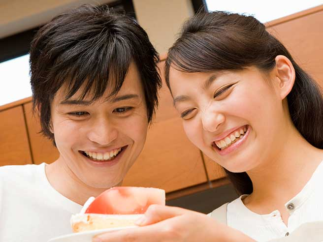 笑いのツボが同じお似合いカップル