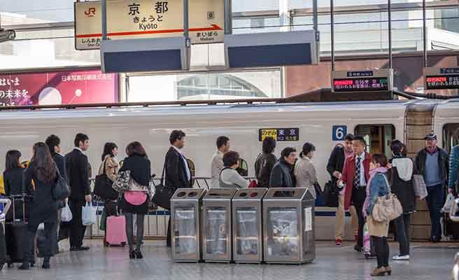 京都駅のプラットフォーム