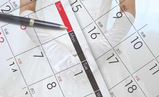 カレンダーと花嫁