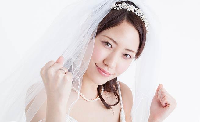 ガッツポーズの花嫁