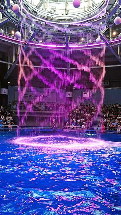 光がきれいな水族館