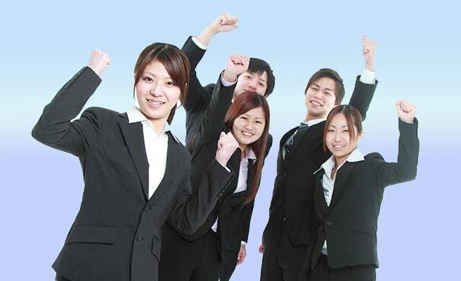 就活する男女学生