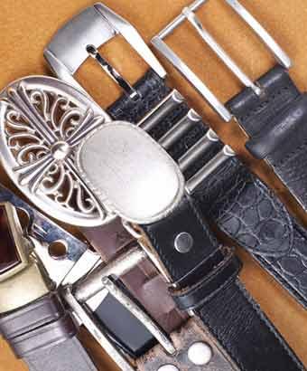 様々なデザインの紳士ベルト