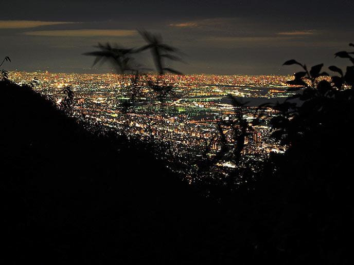 大阪方面の夜景