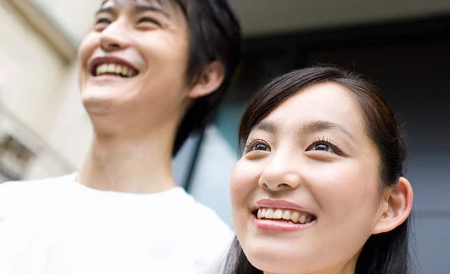 夫婦で笑顔