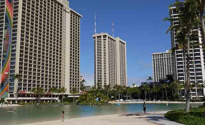 ハワイのビル