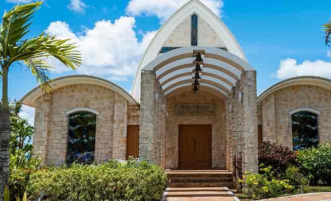 グアムのテニアンの教会