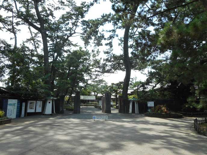 緑の多さに心が安らぐ……沼津御用邸記念公園の入り口