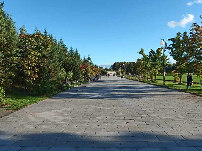 石畳の続く通路は木に囲まれてとっても素敵な雰囲気☆