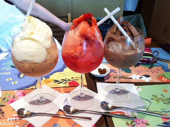 アイスが乗ったドリンクはどれも美味しくてテンションが上がっちゃいます♪