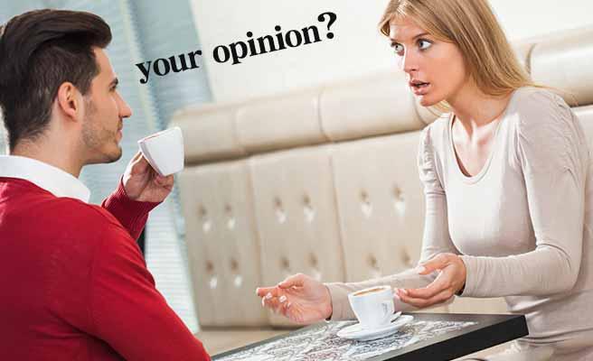 女性と議論する男性