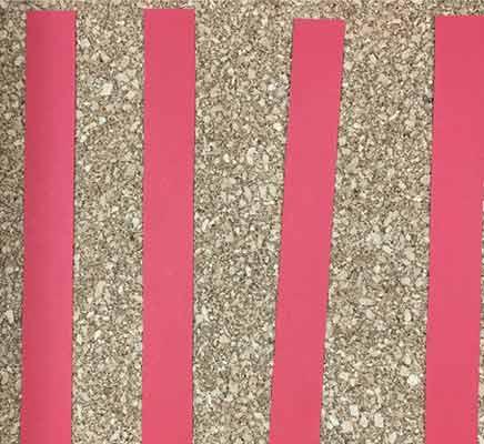 赤色画用紙の4本セット