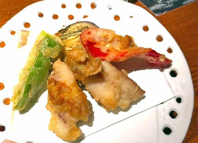 めったに食べられないウニの天ぷら!