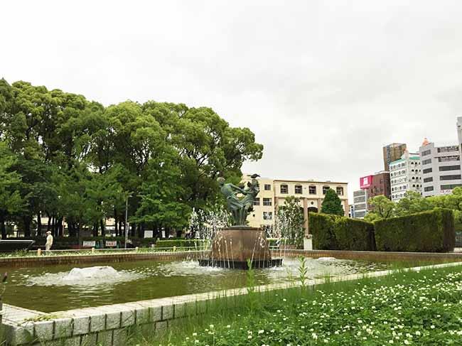 都会の中にある大きな公園です