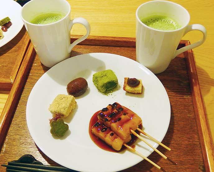京都の甘味が勢ぞろいした一皿「甘味点心」