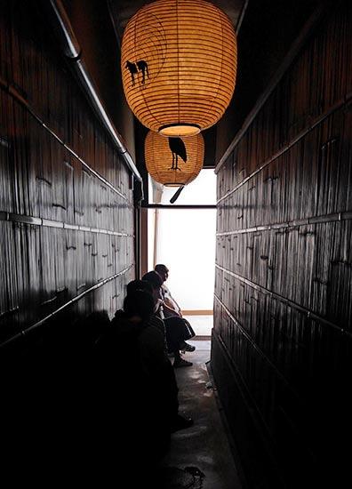 長い町屋がなんとも京都らしいお店です。