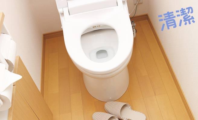 清潔なトイレ便器と床