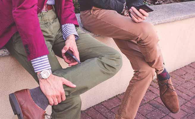 サードウェーブ系男子のズボンと足元