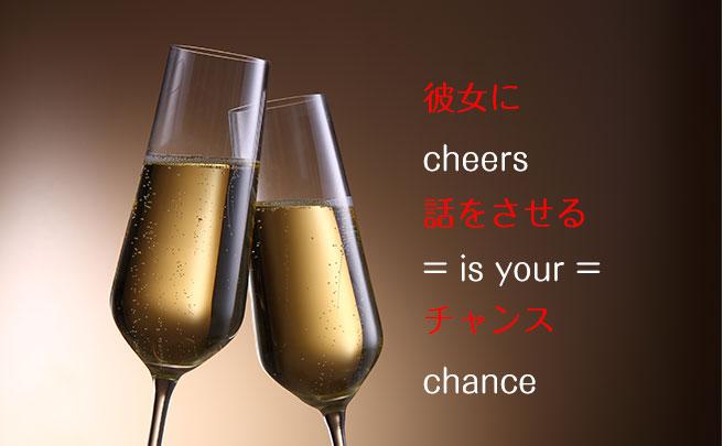 シャンパンでの乾杯