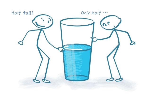 ガラスカップと水のイラスト