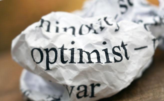 「Optimist」と書かれたゴミ