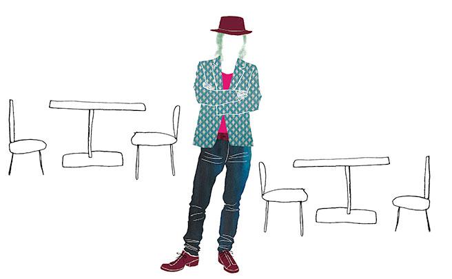 帽子を被った男性のイラスト