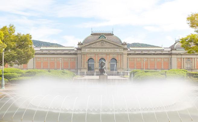 博物館と噴水